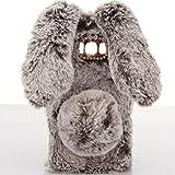 HTC U11Plus Art Case, Handmade Fluffy Villi Rabbit Baby