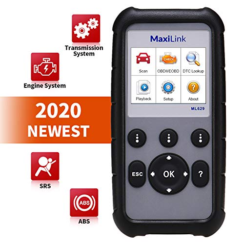 Autel MaxiLink ML629 OBD2 Scanner Upgraded Version of ML619, DTC Lookup, Ready Test, ABS/SRS/Engine/Transmission Diagnoses