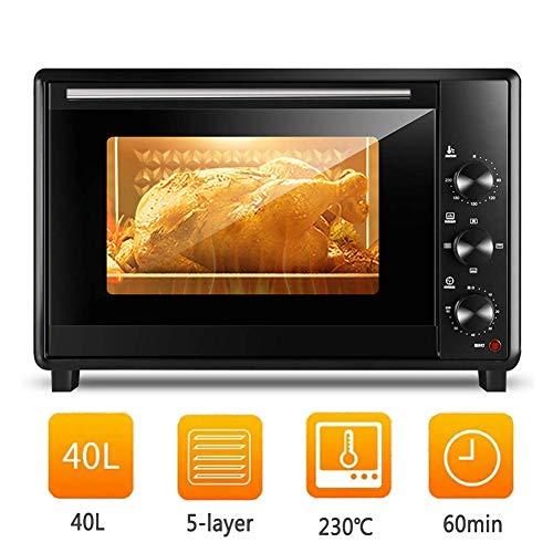 YXYLD 40L Mini-Ofen, FüNfschichtiger Haushaltsgrill Mit 250 ° C Einstellbarer Temperatur Und 60 Minuten Zeitgesteuerter, Temperaturgesteuerter, Vollautomatischer Backzeit
