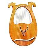 lyakin portatile a 16 corde, arpa in legno, lira in mogano, con accordatore e borsa, adatto per gli amanti della musica, regali per principianti, strumenti per feste di intrattenimento,e