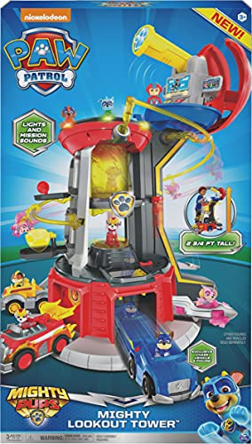 Paw Patrol Mighty Pups Lookout Tower is one of the top toys for preschool-aged boys for Christmasr