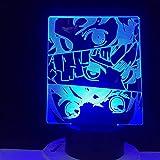 DEMON SLAYER PANEL LED ANIME LAMP DEMON SLAYER KIMETSU NO YAIBA Anime Comic Lámpara 3D Lámpara Led Luz de noche Regalo de dibujos animados
