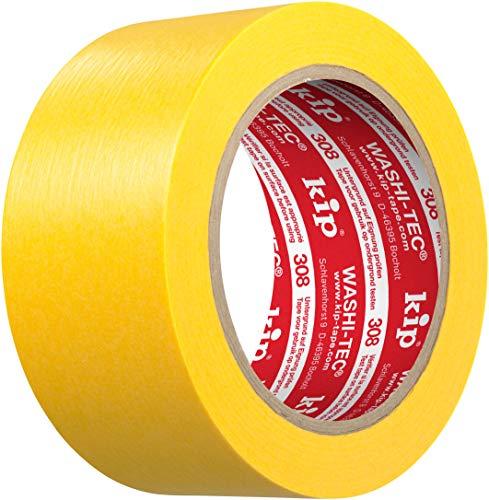 Kip 308-50 Krepp gelb Klebeband Breite: 50 mm / Länge: 50 m FineLine - Tape Spezialpapier