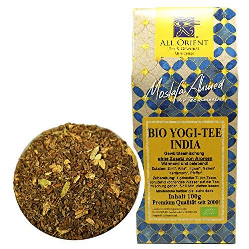 All Orient BIO Yogi-Tee India | 100g | loser Tee | basisch | ayurvedische Gewürze | Gewürztee | ohne Zusatz von Aromen | ohne Teein | BIO-Qualität | naturbelassen | Basentee mit würzigem Geschmack