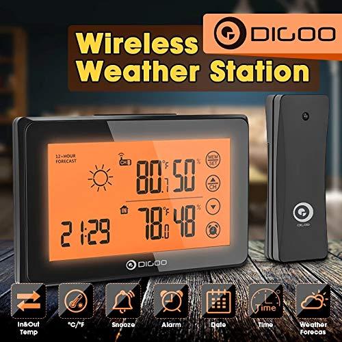 Destock Digoo DG-TH0340 - Stazione Meteo + sensore Interno Esterno igrometro termometro Allarme Snooze Orologio