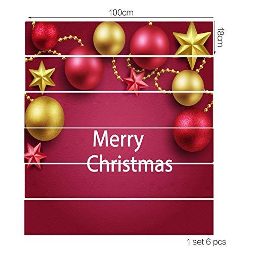 Vessos Treppenaufkleber, lebensecht, 6 Stück, PVC, Weihnachtsbaum