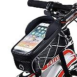 Adiport Bicicletta Telaio Anteriore Borsa,Montaggio Tubo Superiore Borsa per Bici, Custodia per Telefono Impermeabile Accessori per Cellulare da 6,8 Pollici