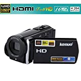 Kenuo - Videocámara Digital DV (1080P, 16MP, Pantalla 3.0 TFT LCD, 16X Zoom, FHD/HD/VGA) Cámara de Video, Negro