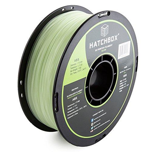 HATCHBOX ABS 3D Printer Filament, Dimensional Accuracy +/- 0.03 mm, 1 kg Spool, 1.75 mm, Glow in The Dark