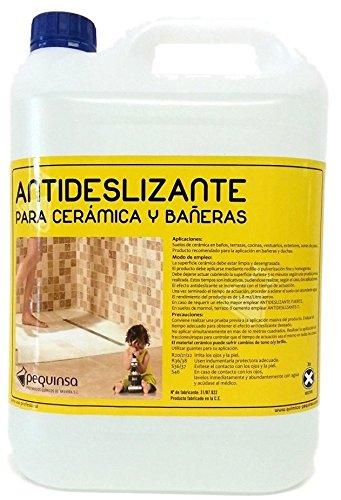 Liquido antideslizante para suelos cerámicos y gres. Envase 5 litros.