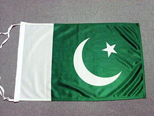 AZ FLAG Flagge Pakistan 45x30cm mit Kordel - PAKISTANISCHE Fahne 30 x 45 cm - flaggen Top Qualität