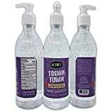Toughtown 28 Mile Hand Sanitizer Gel Pump Bottles - Lavender Rose Scented - Made in USA - 16oz. Bottles -3 Pack