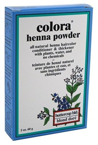 Colora Henna Powder Hair Color Butter-Cup Blonde 2 Ounce (59ml) (2 Pack)