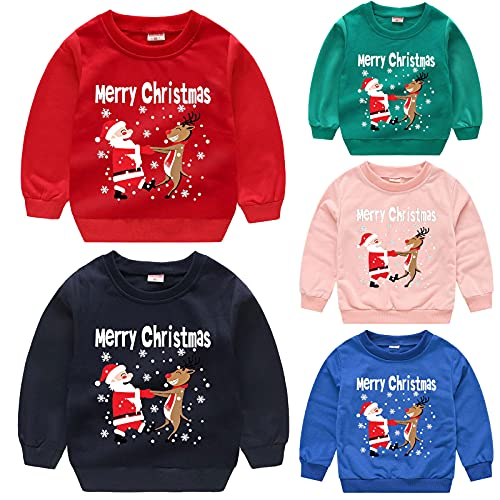 Kinder-Kleidung Baby Jungen Mädchen Weihnachten Mode Sweatshirt Hoodie Cartoon Rundhals Kapuzenpullover Kapuze Cartoon-Druck Fleece Hoodie Kinder Winter Warm Pullover Langarmshirt