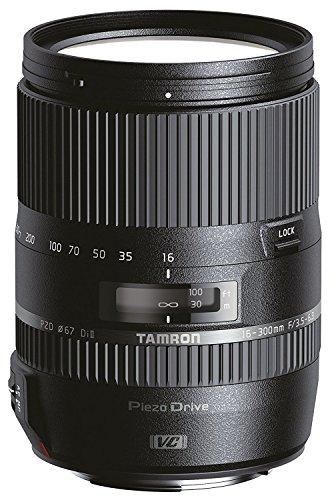 Tamron AF 16-300 mm F/3.5-6.3 Di II VC PZD MACRO - Objetivo para Canon (distancia focal 16-300mm, apertura f/3.5-6.3, zoom óptico 18.75x, estabilizador, motor de enfoque, macro, filtro: 67mm) negro