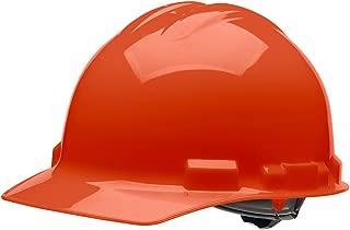 4 pt. Ratchet Cap Style Hard Hat (Orange), OSHA/ANSI Compliant