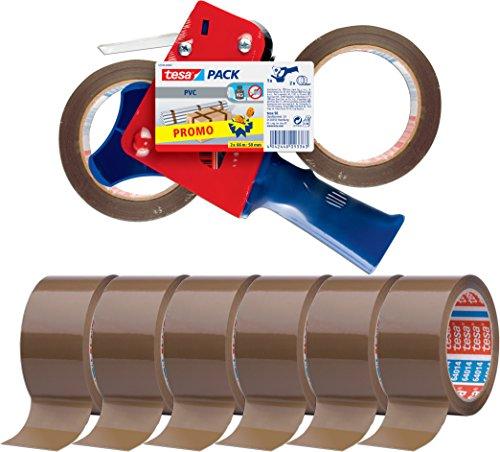 tesa Packband-Abroller mit 8 Rollen tesapack 66m x 50mm