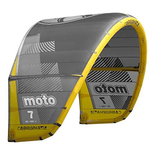 Cabrinha Moto Kite 2019-Grey/Yellow-7,0