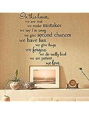 ملصق حائط يمكن ازالته بجمل عن قواعد المنزل لتزيين غرفة المعيشة