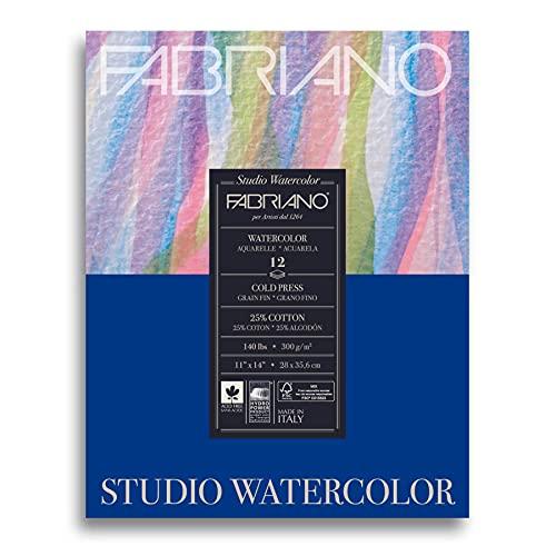 Fabriano Studio Watercolor Pad, 11 x 14, White