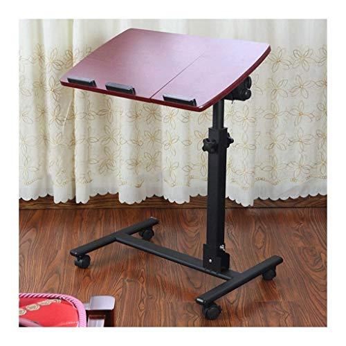 Laptoptisch Höhenverstellbar Multifunktional Und Praktisch Leicht Und Flexibel Nachttisch verstellbar (Color : Red)