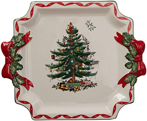 Spode Christmas Tree Ribbons Square Platter