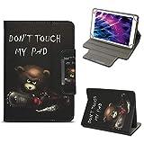 NAUC Tablet Tasche für Medion Lifetab P10603 P10606 P10602 X10605 X10607 X10311 X10302 X10301 P10400 P10506 Hülle Schutzhülle Case Cover Stand, Farben:Motiv 11