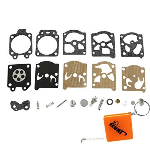 HURI Vergaser Reparatursatz Kit Membrane Dichtung ersetzt Walbro K20-WAT Dichtsatz WA WT Vergaser STIHL 017 021, 023, 024, 025, 026, 1121, 1130, MS210 MS230, MS240, MS250, MS260, FS36, FS 40, FS 44, FS75, FS80, FS85, FC75, FS220, FS280, FS290 Dolmar 100 102 340 400 BC-250 BC-330 # 4211 007 1060