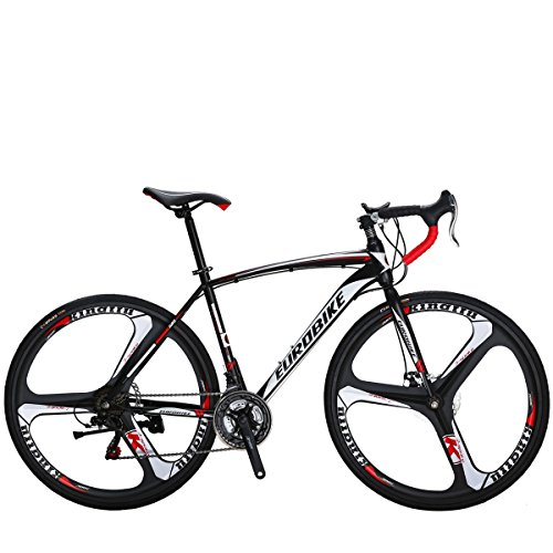 SL Bicicleta de carretera XC550 49 cm Marco blanco 3 radios bicicleta de freno de disco dual bicicleta carretera 700C (ruedas de 3 radios)