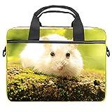Lurnies Hamster de Compagnie Blanc Sac à bandoulière Ordinateur Imprimé Unique Compatible avec MacBook Pro 13-13,3 Pouces, Ordinateur Portable MacBook Air® 28x36.8x3 cm