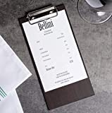 (10-Pack) 8' x 4' Natural Wood Menu Holders/Check Presenters with Clip Sleek, Contemporary Appearance Dark Brown
