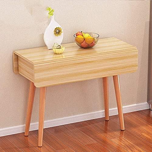 DNSJB Mesa plegable para el hogar, mesa de comedor rectangular simple, pequeña mesa plegable (color: tamaño A: 100 cm) - 80 cm_B