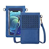 AnsTOP Touch Screen Purse, Women Crossbody Cell Phone Bag Mini Shoulder Purse With Adjustable Straps (Vintage blue)