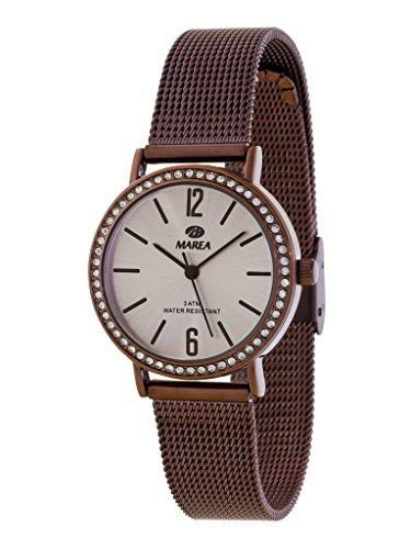 Marea Damen Analog Quarz Uhr mit Edelstahl Armband B41184/5