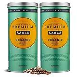 Café Saula grain, Pack de 2 boîtes de 500 gr. Premium Organic 100% Arabica