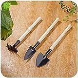 Fighrh 3pcs / set Herramientas de jardinería creativa mini maceta de plantación herramienta Bonsai planta de semillero de plantación de herramientas de jardinería Inicio Gadget for Flower Shop suculen