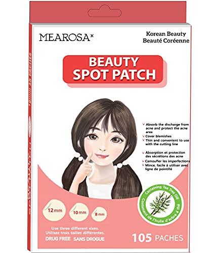 Mearosa - Parches de sanación de acné; cubierta absorbente, parche