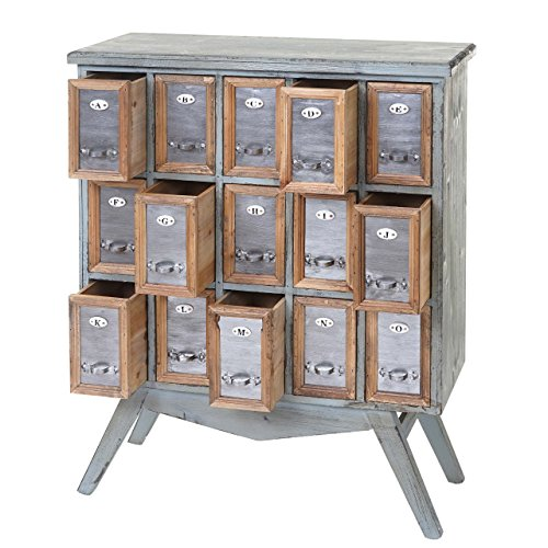 Mendler Apotheker-Schrank HWC-A43, Kommode, Tanne Holz massiv Vintage Shabby-Look 94x73x32cm
