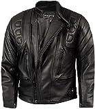 Skintan CE Armoured Mens Leather Motorcycle Jacket Black M - 40