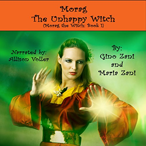 Morag the Unhappy Witch audiobook cover art