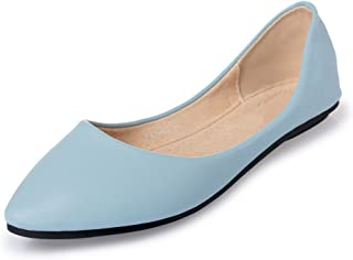 MAIERNISI JESSI Women's Pointed Toe Ballet Flat Cute Casual Comfort Shoes