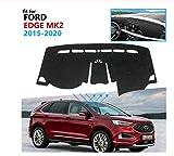 linfei Tampone Protettivo per Cruscotto per Ford Edge 2015-2020 Endura Accessori Auto Cruscotto Parasole Tappeto Sinistro Tutto Nero