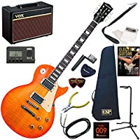 EDWARDS エレキギター 初心者 入門 ESP直系の国産ブランド 人気のレスポールスタンダードタイプ 人気のVOX Pathfinder10が入った本格14点セット E-LP-125SD/VHB(ビンテージハニーバースト)