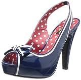 Pleaser Bett05/Nbpt - Zapatos de tacón para mujer, color azul, talla 40
