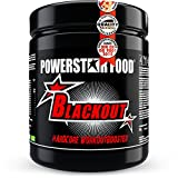 POWERSTAR FOOD Blackout Booster | 600g | Pre Workout Trainingsbooster | Deutsche Herstellung | Blue Raspberry