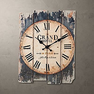 Imoerjia Creative Clock Western Room Wall Clock Creative Bedroom Clocks Clock, Black