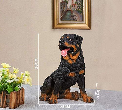 DJY-JY - Estatua de animal, decoración de estatuas de simulación para perro, modelo Rottweiler de salón, gabinete de vino, decoración de gabinete de televisión