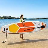 AQUATEC Tablas de Paddle Surf Hinchables | Remo Ajustable | Mochila PVC | Inflador | Tabla de Travesía Sup (Lucia, Principiante + Silla)
