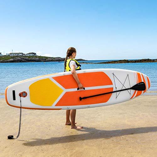 AQUATEC Tablas de Paddle Surf Hinchables   Remo Ajustable   Mochila PVC   Inflador   Tabla de Travesía Sup (Lucia, 3,2m + Silla)