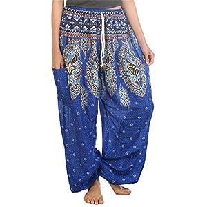 Lofbaz Mujeres Harén Pantalones Arabes de Cintura de cordón Boho Yoga | DeHippies.com
